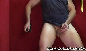 This interracial glory hole is the perfect place for a dad l...