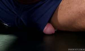 Leo cannot resist when he sees it and after stroking it for ...