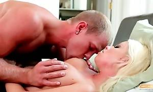 Brittany Amber Wakes Friend Up With Blowjob 2