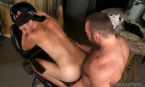 Chandler is Brad`s Pup and loves worshiping his big hairy bo...