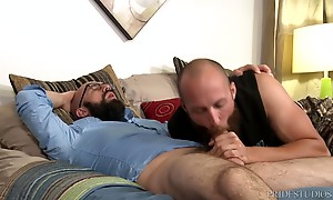 Dustin then sits down on Lex`s cock and rides him long and deep. Lex then puts Dustin on all fours and fucks him from behind. He then flips him onto his back and fucks the cum out of him. Lex pulls out and shoots all over Dustin.