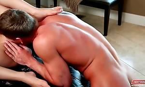 Horny stud fingers and licks girlfriend`s craving pussy.
