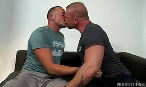 Daxton and Marxel are at Daxton`s studio discussing their recent sexual encounters.