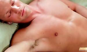 Brittany Amber Wakes Friend Up With Blowjob 1