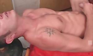 Tough dude pleasures his friend with good anal massage.