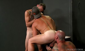 Three sexy studs are ready to fuck so they position themselv...